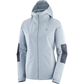 Salomon Outrack Waterproof Jacket Women, ashley blue/ebony